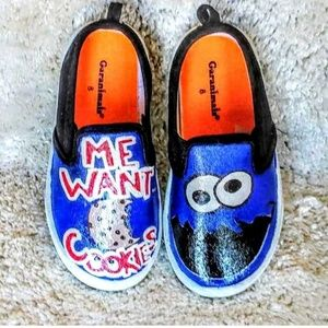 Other - Hand Painted Cookie Monster Shoes
